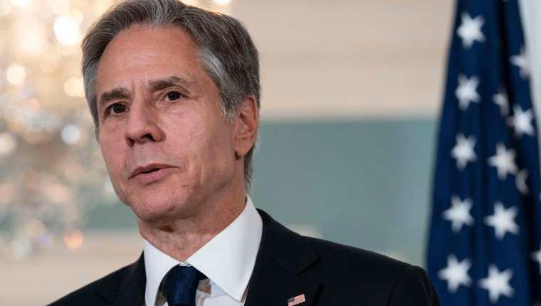 Antony Blinken, Secretario de Estado de Estados Unidos. (Foto Prensa Libre: AFP)