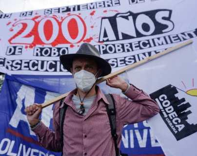 Codeca anuncia protestas para el 15 de septiembre en rechazo a la celebración del Bicentenario