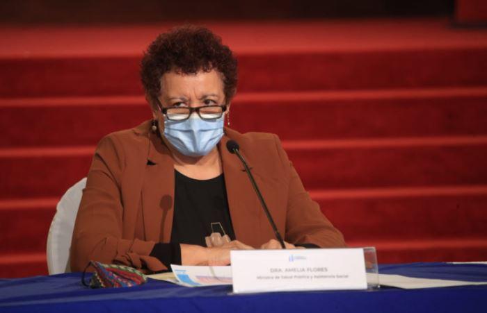 Ministra de Salud, Amelia Flores, da positivo por coronavirus