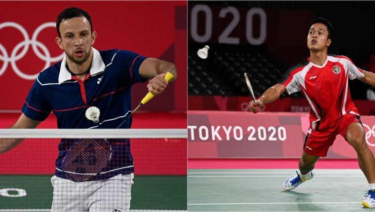 Kevin Cordón y Anthony Sinisuka Ginting disputarán la medalla de bronce del bádminton individual masculino de los Juegos Olímpicos de Tokio 2020. Fotos Prensa Libre: AFP.