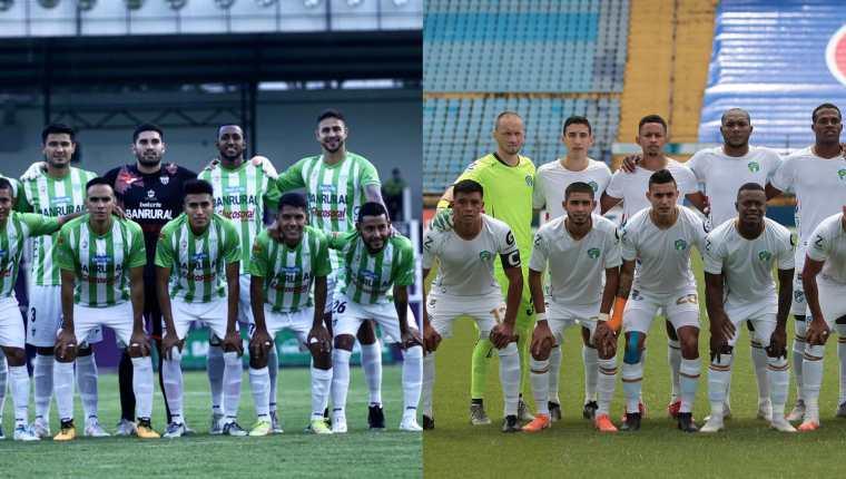 Antigua GFC, segundo del torneo, recibirá al líder Comunicaciones en el estadio Pensativo a las 18 horas. Fotos Antigua GFC y Cremas Oficial