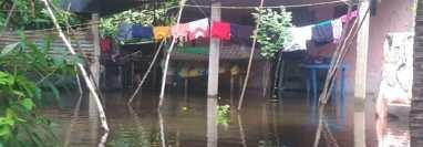 Daños por lluvias del 7 y 8 de agosto del 2021 en Retalhuleu. (Foto Prensa Libre: Conred)