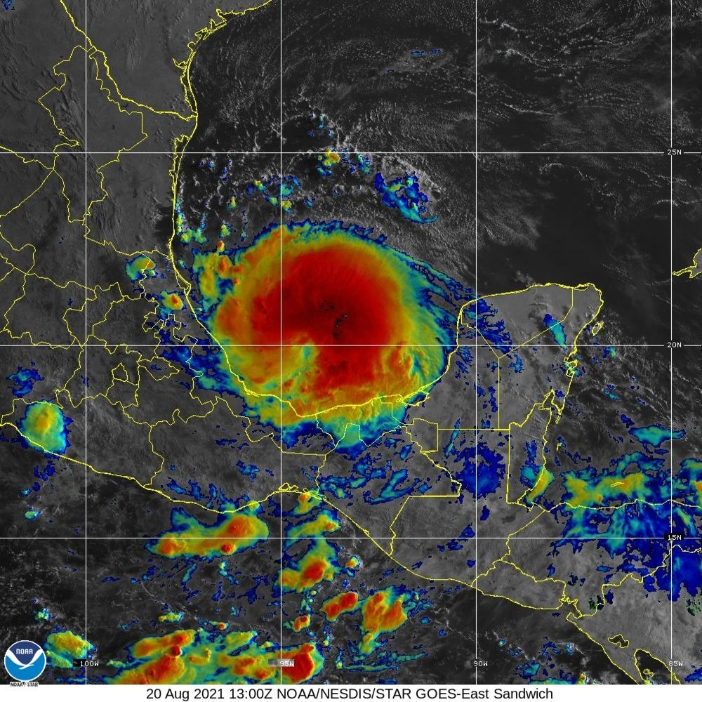 Grace se ha fortalecido a huracán nuevamente y en Guatemala incrementará lluvias el fin de semana