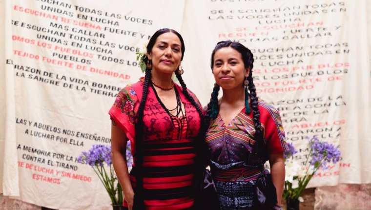 Lila Downs y Sara Curruchich  unen sus voces para dar vida a un canto de fuerza y libertad.. (Foto Prensa Libre: Cortesía Sara Curruchich)
