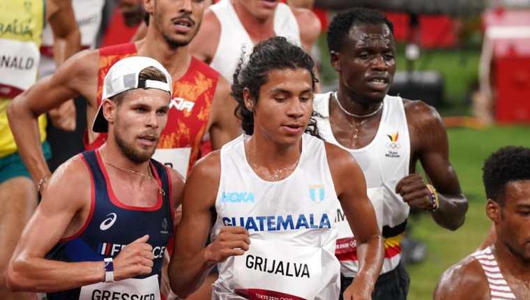 Luis Grijalva se clasificó a la final de los 5 mil metros planos de los Juegos Olímpicos de Tokio 2020 en el Estadio Olímpico. Foto Prensa Libre: COG.