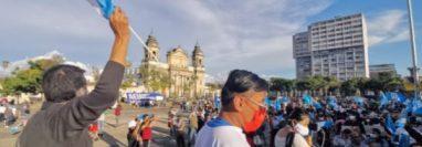 Guatemala ha sido escenario de manifestaciones contra la corrupción luego de la destitución Juan Francisco Sandoval. (Foto Prensa Libre: María José Bonilla)