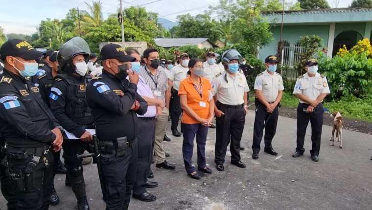 Los conflictos por los cortes de energía se agravan en San Antonio Suchitepéquez. (Foto Prensa Libre: Marvin Túnchez)