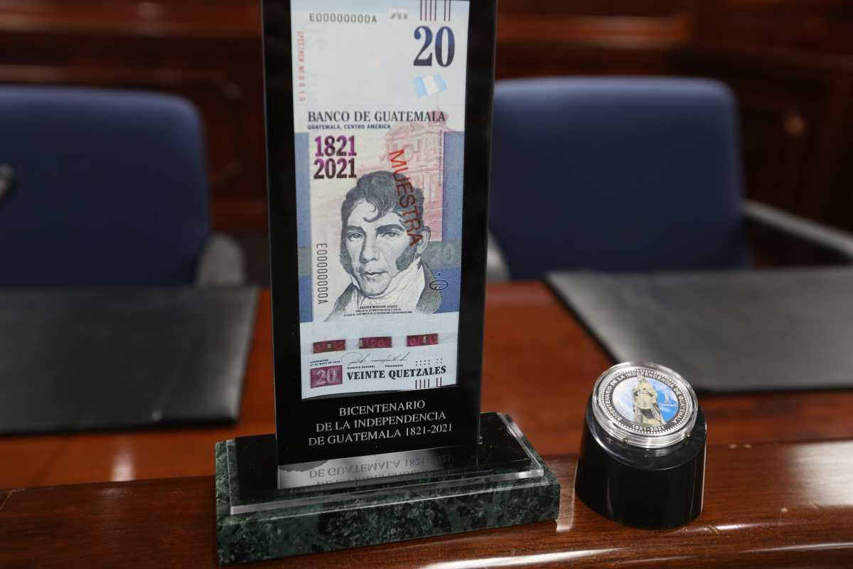 Banguat pondrá a circular Q20 millones en billetes que conmemoran el Bicentenario
