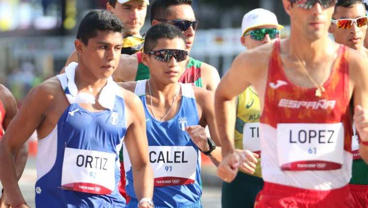 José Oswaldo Calel y José Eduardo Ortiz compitieron en los 20 kilómetros marcha masculina en los Juegos Olímpicos de Tokio 2020. Foto Prensa Libre: COG.