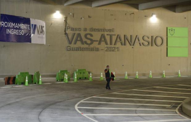 Paso a desnivel VAS-Atanasio con el que se pretende mayor fluidez vehicular en la ciudad de Guatemala. (Foto Prensa Libre: Esbin García)
