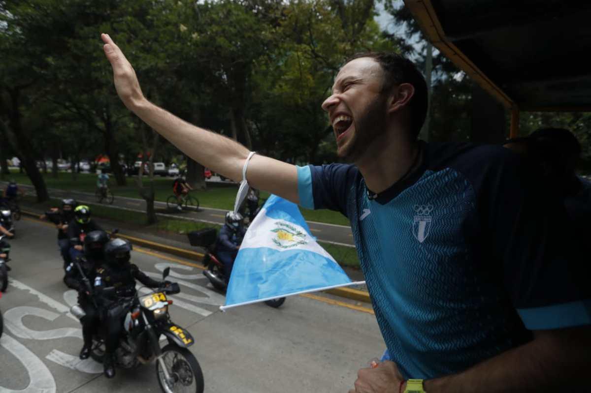 Esta es la felicidad de Kevin Cordón y la población guatemalteca que celebra su participación en los Juegos Olímpicos de Tokio 2020