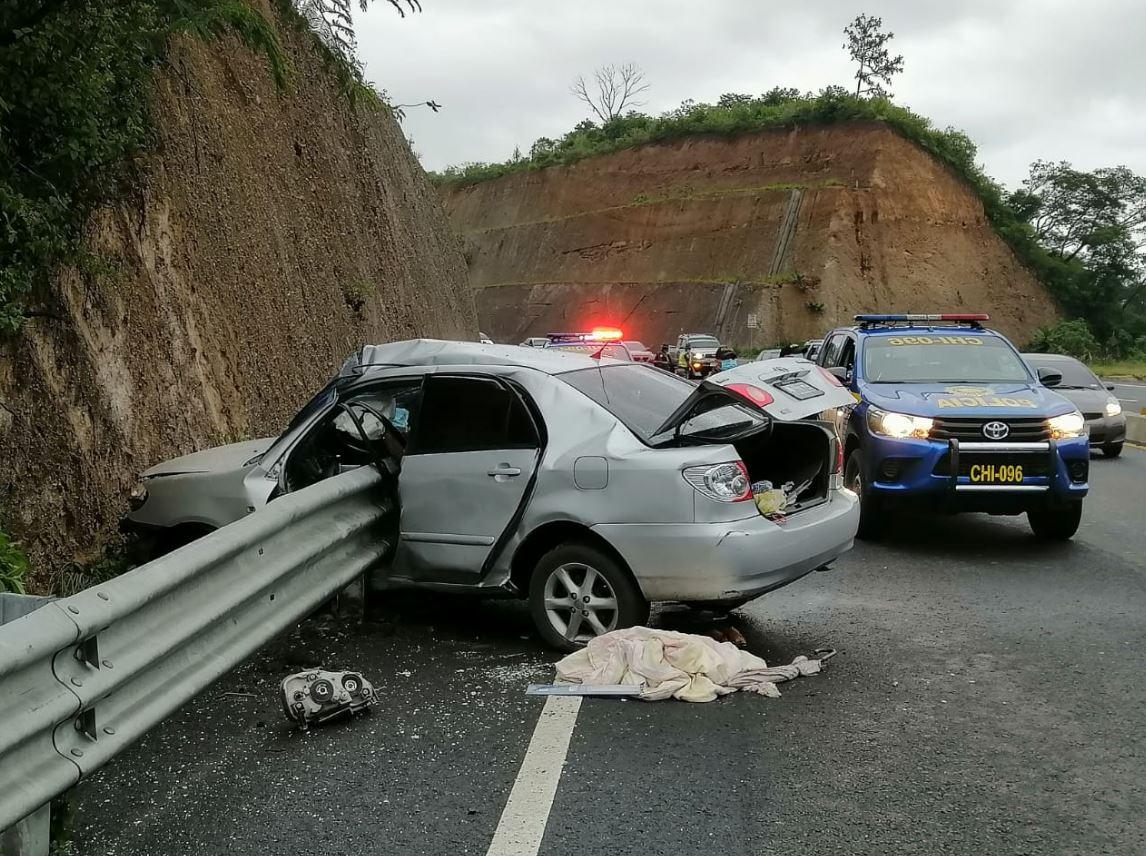 Racha de accidentes de las últimas horas deja una mujer muerta y varios heridos en Chimaltenango y la capital