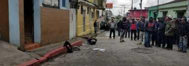 Sede de Gobernación Departamental de San Marcos, que sufrió daños durante una protesta. (Foto Prensa Libre: Cristian Cass)