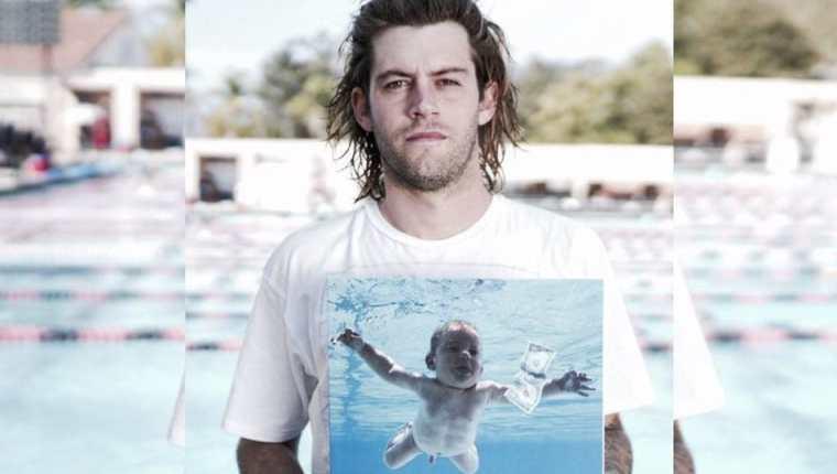 Spencer Elden apareció en la portada del disco Nevermind y ahora demanda a Nirvana por explotación sexual infantil. (Foto Prensa Libre: Twitter)