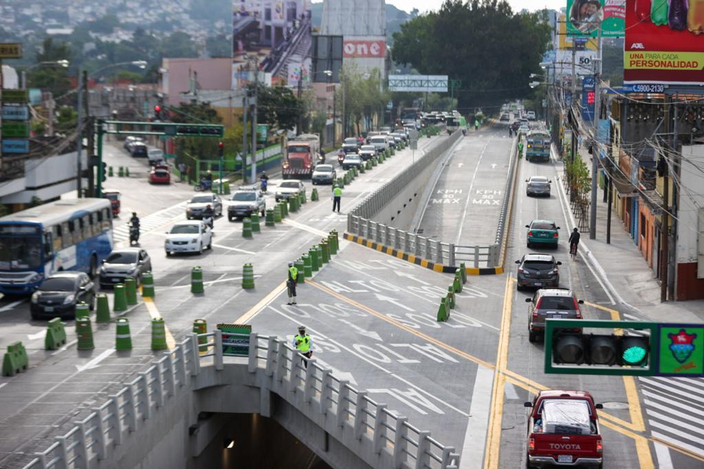 Habilitan nuevo paso a desnivel Cuchilla San Antonio en zona 6 de la ciudad capital