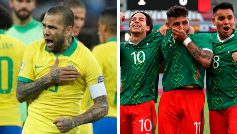 Las semifinales iniciaran con el México vs Brasil. Foto Prensa Libre