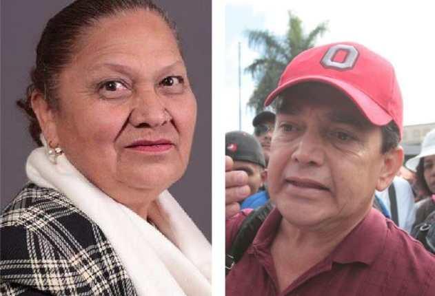 Consuelo Porras, fiscal general del MP, y Joviel Acevedo, líder magisterial. (Foto Prensa Libre: HemerotecaPL)