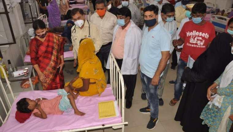 Las muertes se produjeron en el estado de Uttar Pradesh. BBC