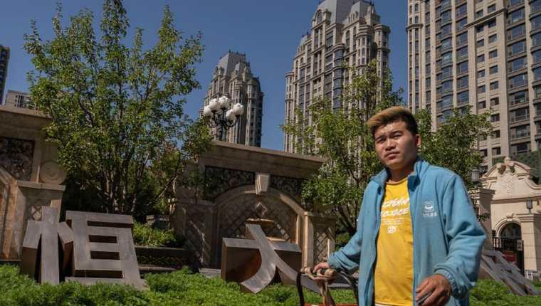 Un complejo residencial construido por Evergrande en Beijing.  (IMÁGENES FALSAS)