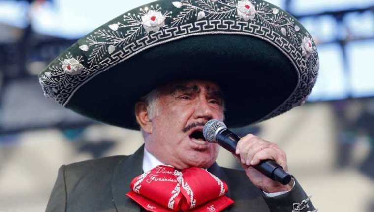 """Vicente Fernández, """"el Charro de Huentitán"""". (Foto Prensa Libre: EFE)"""