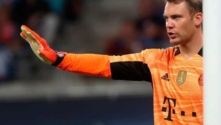 Manuel Neuer, guardameta del Bayern Múnich, está listo para enfrentar al Barcelona. (Foto Prensa Libre: EFE)
