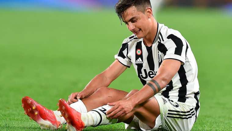 El argentino Paulo Dybala no ha podido hacer la diferencia en la Juventus desde que se fue Cristiano Ronaldo. Foto Prensa Libre: EFE.