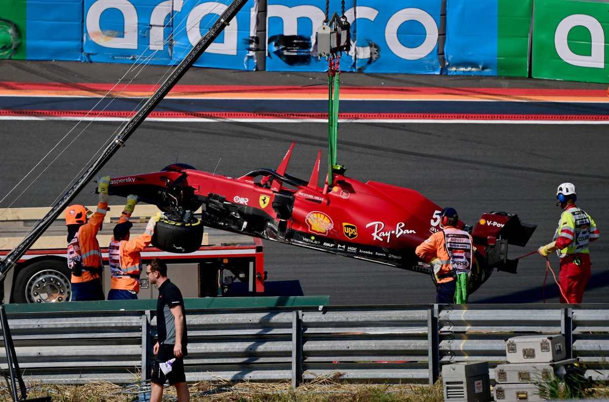 Video | El aparatoso accidente del español Carlos Sainz en el GP de Países Bajos