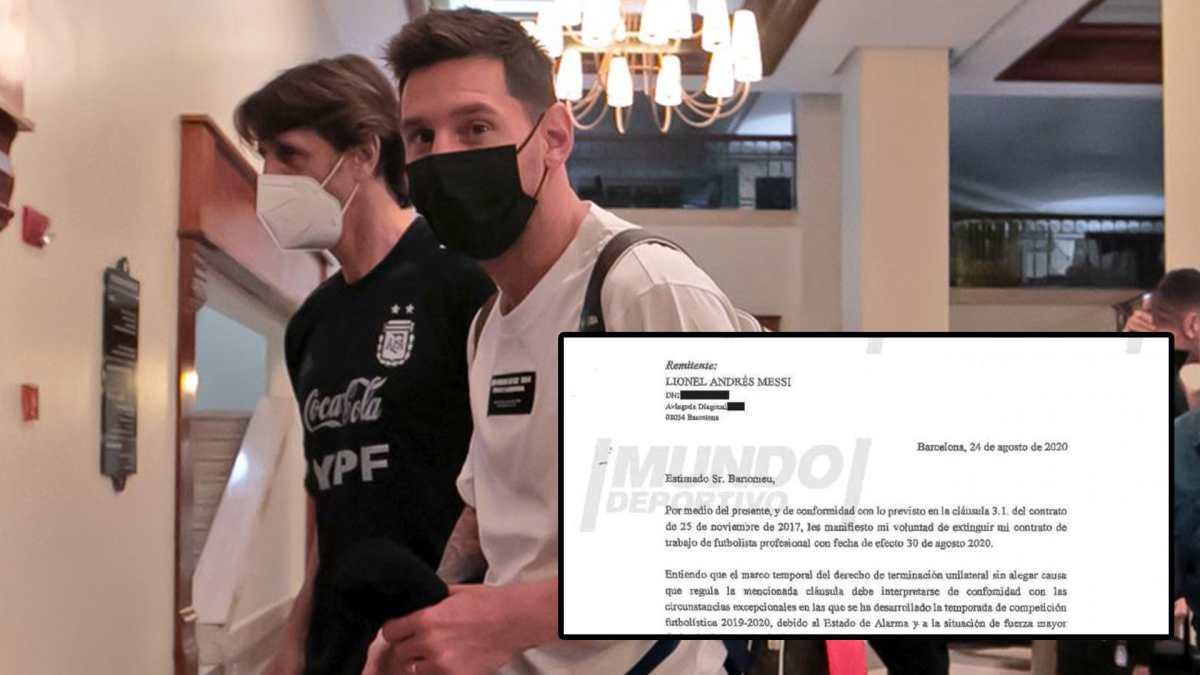 Revelan en España el burofax de Lionel Messi al Barcelona
