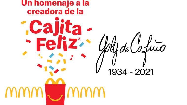 McDonald´s reconoce el legado de doña Yolanda de Cofiño con la edición especial de Cajita Feliz. Foto Prensa Libre: Cortesía