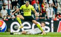 Haaland firmó el segundo gol del Borussia Dortmund frente al al Besiktas en Estambul. (Foto Borussia Dortmund).