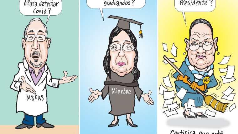 Personajes: Francisco Coma, Claudia Ruiz y Consuelo Porras.