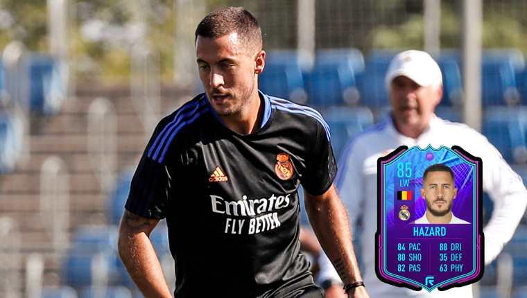 El jugador belga Eden Hazard llegó al Real Madrid la temporada 19-20 procedente del Chelsea inglés. (Foto Prensa Libre: Real Madrid Twitter)