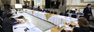 Hubo poca presencia de Jefes de Bloque en la reunión en donde se acordó la agenda de las sesiones plenarias, en donde se incluyen varios proyectos en materia económica. Fotografía: Congreso.