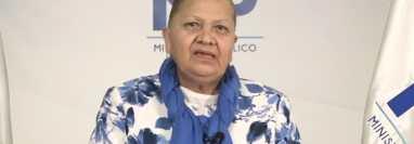 Consuelo Porras se pronuncia sobre la situación luego de la destitución de Juan Francisco Sandoval. (Foto Prensa Libre: Tomada de video del MP)