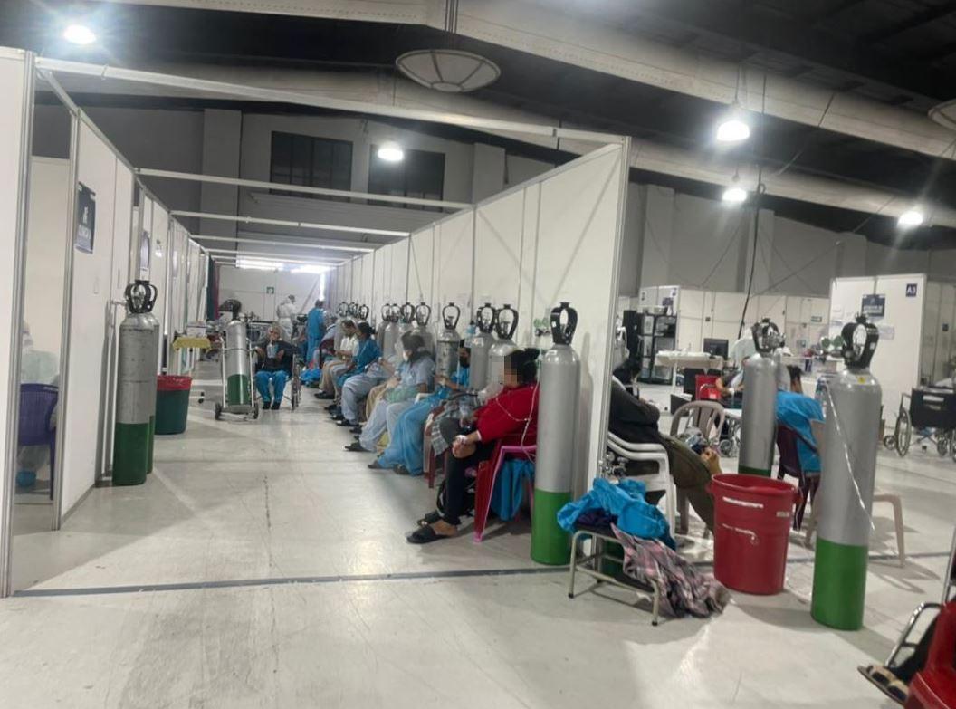 Hospital Temporal del Parque de la Industria llega a su máxima capacidad y no recibirá más pacientes covid-19
