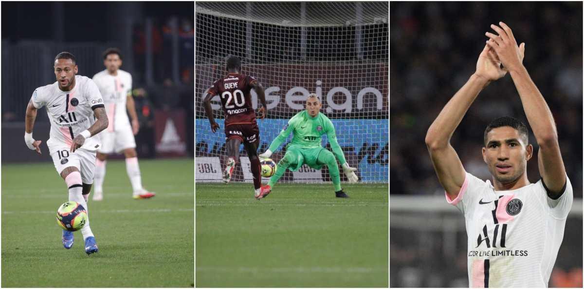 El PSG sufre con o sin Messi, pero Neymar, Hakimi y Keylor Navas, salvaron su paso perfecto en la Ligue 1