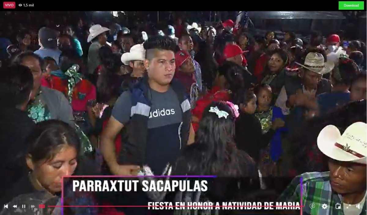 Pobladores de Parraxtut siguen de fiesta, mientras Sacapulas está en rojo por repunte de casos de coronavirus
