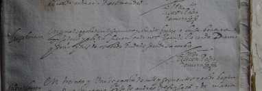 Folio de un registro parroquial de bautizos, que data de 1608, en el que se consigna el nombre del infante, los de sus padres y padrinos, así como la fecha en que se celebró el sacramento. Este documento, que pertenece al Archivo Histórico Arquidiocesano de Guatemala, servía como identificación.