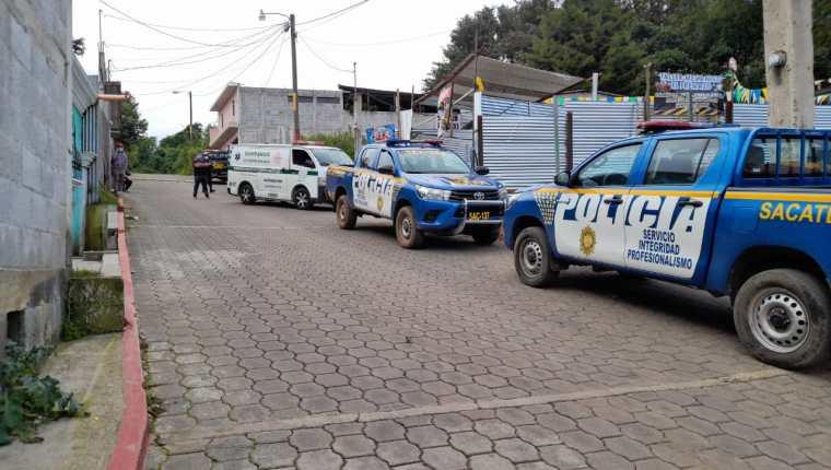 El cuerpo de Karen Beatriz Chiquitó fue localizado en una vivienda de Sumpango, Sacatepéquez. (Foto Prensa Libre: CBMD)