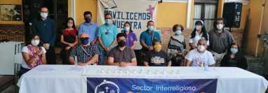 El grupo interreligioso Centinelas denunció que dos de sus miembros han sido criminalizados.  (Foto Prensa Libre: Centinelas)
