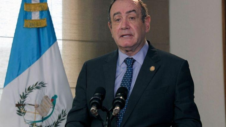 El presidente Alejandro Giammattei brindó una entrevista el pasado 18 de septiembre, la que fue transmitida este sábado. (Foto Prensa Libre: Hemeroteca)