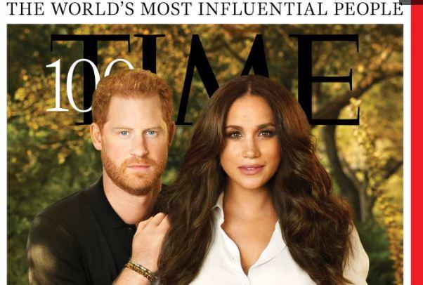 El príncipe Harry y Meghan Markle adornan la portada de loa revista Time. (Foto: @peopleenespanol/Twitter)
