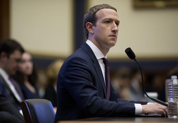Mark Zuckerberg, director ejecutivo de Facebook, testifica ante una audiencia del Comité de Servicios Financieros de la Cámara de Representantes en el Capitolio en Washington, el 23 de octubre de 2019. (Eric Thayer/The New York Times)