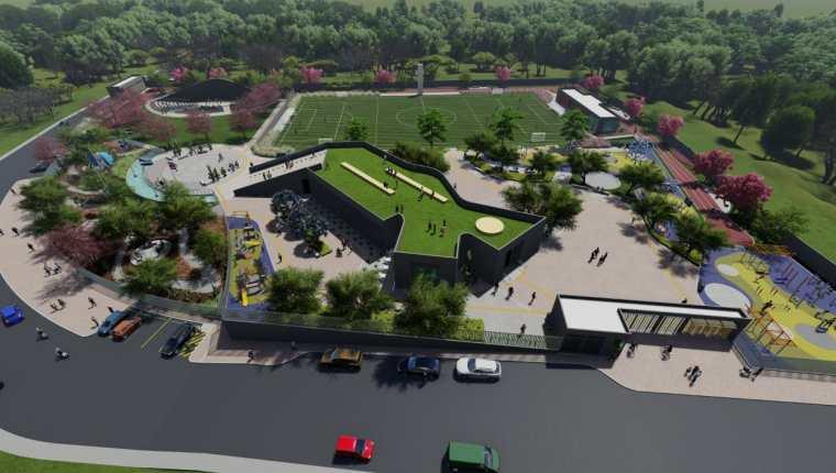 Así podría lucir el Parque Bicentenario de Zacapa, que licita el Ministerio de Cultura. (Foto Prensa Libre: Ministerio de Cultura)