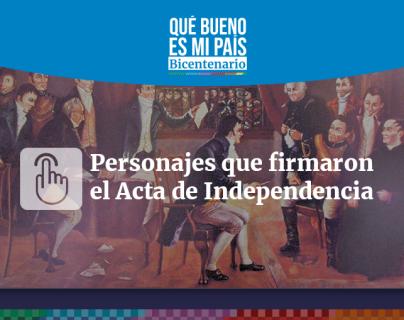 Bicentenario | Quiénes eran los 13 firmantes del acta de independencia