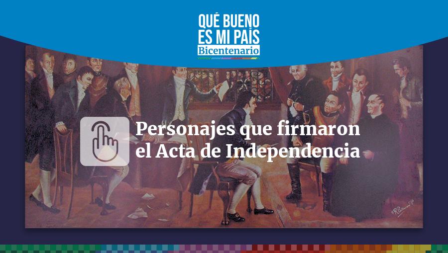 Bicentenario   Quiénes eran los 13 firmantes del acta de independencia