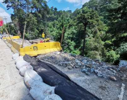 Colapsan gaviones en Santa Rosalía, km12 ruta al El Salvador, autoridades detallan qué pasó y los planes para rehabilitar el paso