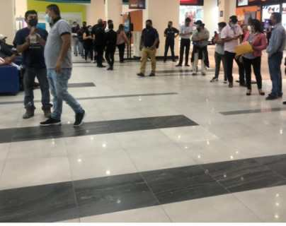 Reportan largas filas y desinformación en la nueva sede de Maycom, en la zona 7 capitalina