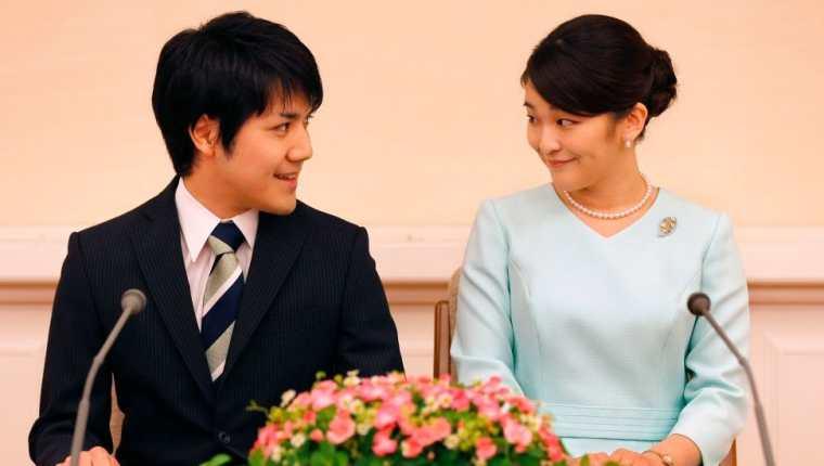 La princesa Mako y su prometido, Kei Komuro, se casarán el 26 de octubre.  (IMÁGENES FALSAS)
