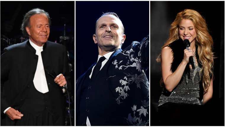 Julio Iglesias, Miguel Bosé y Shakira son algunos de los artistas que aparecen en los Pandora Papers.  (GETTY IMAGES / BBC WORLD)